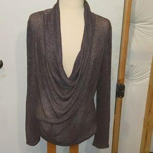 Scoop Neck Purple Long Sleeve